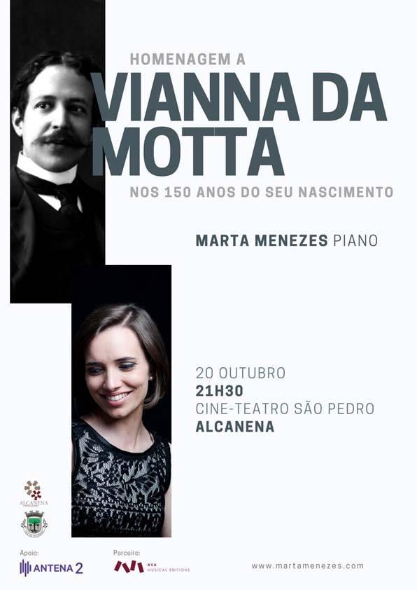 O Cine Teatro So Pedro Em Alcanena Recebe No Prximo Dia 20 De Outubro Sbado S 2130h Concerto Piano Homenagem A Vianna Da Motta